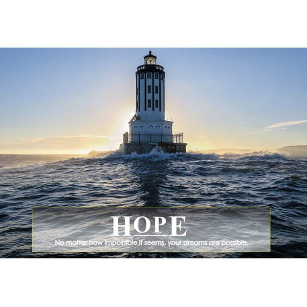 poster lighthouse on ocean