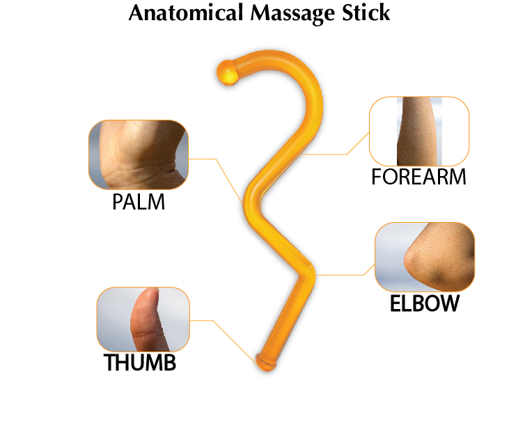 Anatomical Self-massage Stick